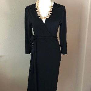Black Banana Republic Wrap Dress